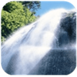 瀑布背景动态壁纸 工具 LOGO-玩APPs