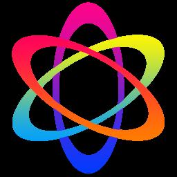 炫彩粒子图标