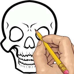 如何绘制:纹身头骨 休閒 App LOGO-硬是要APP
