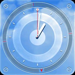 重力感应3D天空桌面时钟动态壁纸 工具 App LOGO-APP試玩