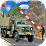 推动军队检查站卡车
