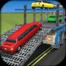 豪华轿车或汽车运输卡车3D