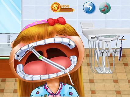 疯狂的牙医儿童游戏.