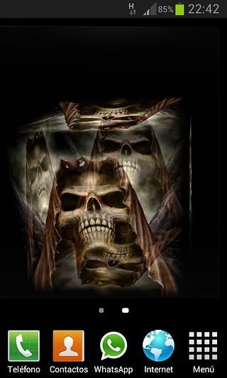 3D Death Cube Live Wallpaper