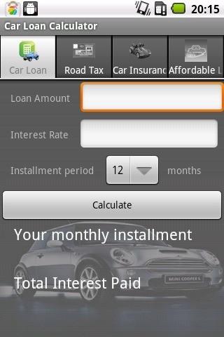 汽车贷款计算器