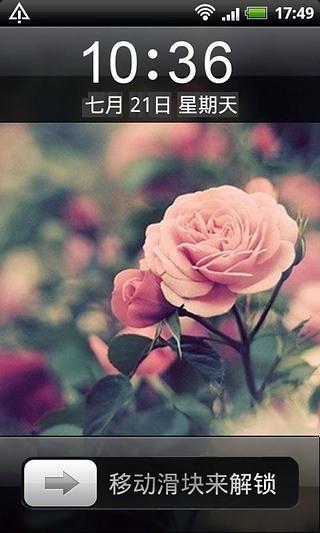淡雅唯美鲜花手机锁屏