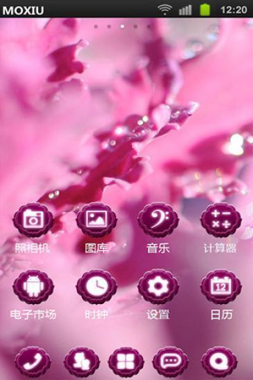 紫色梦幻魔秀桌面主题