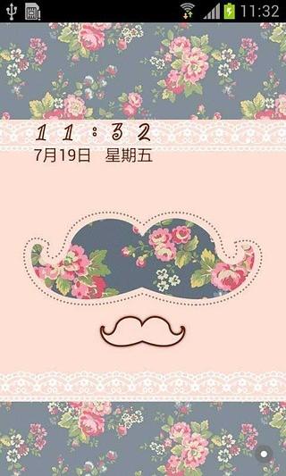 文艺小胡子 -主题桌面