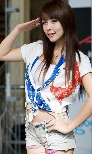 韩国美女车模动态壁纸