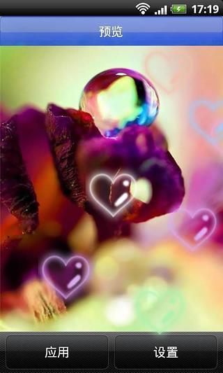花瓣上晶莹雨滴动态壁纸