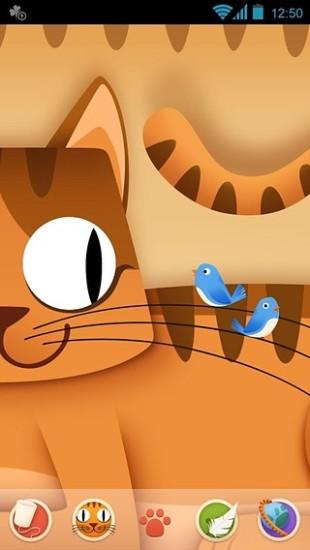 GO主题-猫咪和小鸟