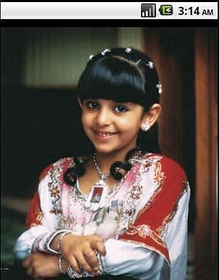 神秘的阿拉伯女孩