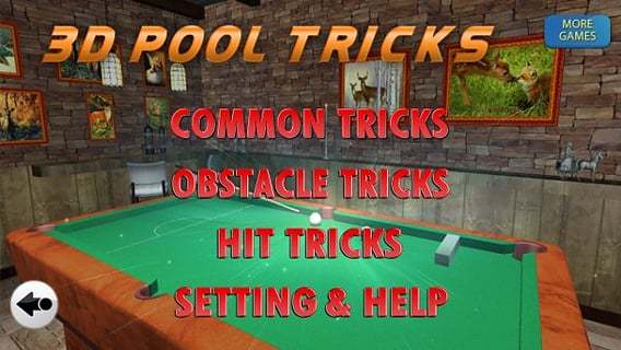 3D Pool Tricks
