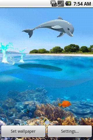 跳跃的海豚动态壁纸
