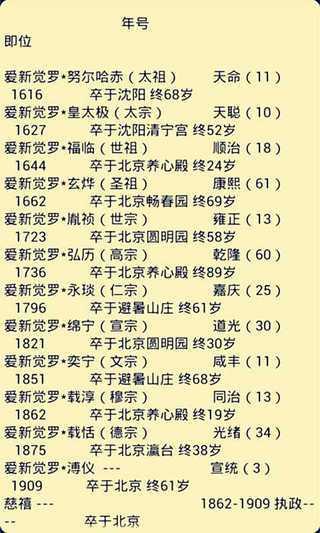玩書籍App|中国历史朝代皇帝列表大全免費|APP試玩