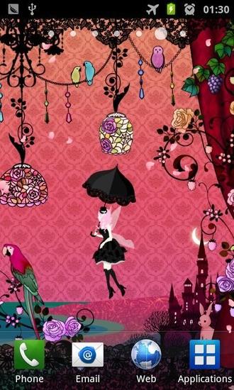 仙女夜花园动态壁纸
