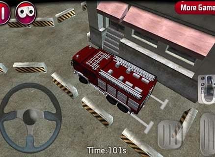 top parking game 消防货车停车3D