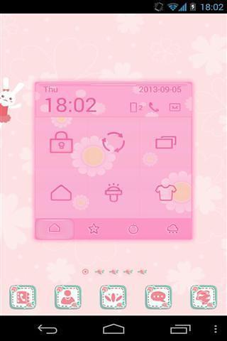 粉红色的花主题