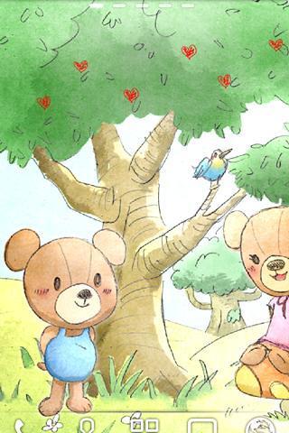 熊在森林里。审判