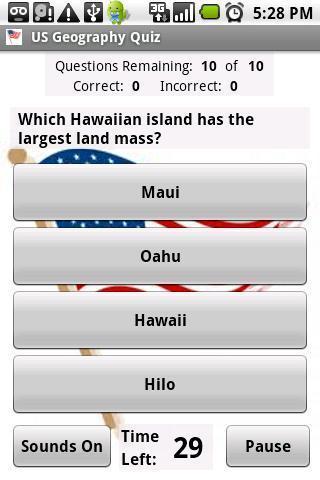 地理测验问答游戏