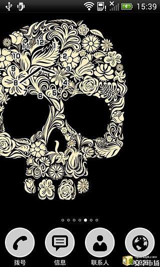 骷髅主题美化锁屏