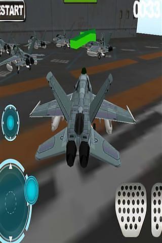 3D喷气飞机停车
