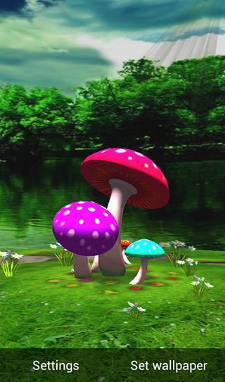 3D蘑菇HD动态壁纸