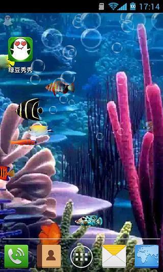珊瑚里的鱼-绿豆秀秀动态壁纸