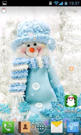雪人祝新年-绿豆秀秀动态壁纸
