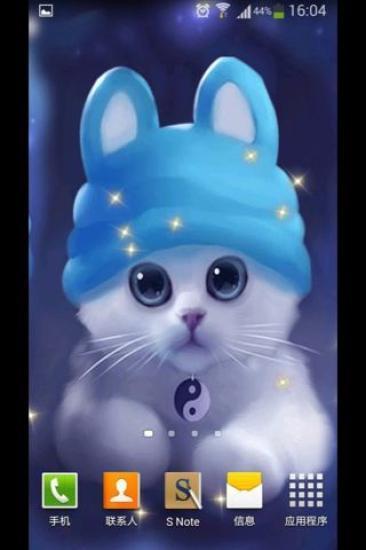 小白猫-绿豆秀秀动态壁纸