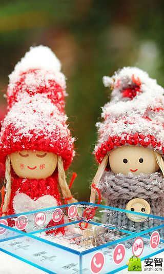 宝软3D主题-雪中的娃娃