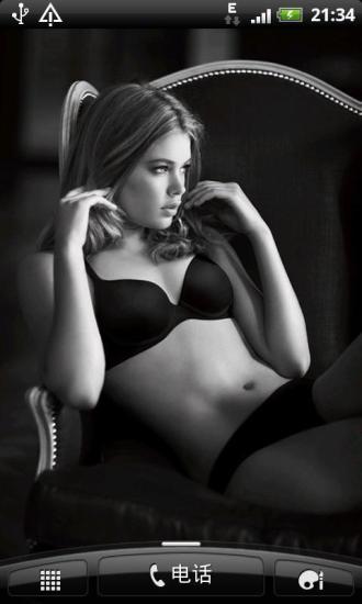 黑白风格欧美美女动态壁纸