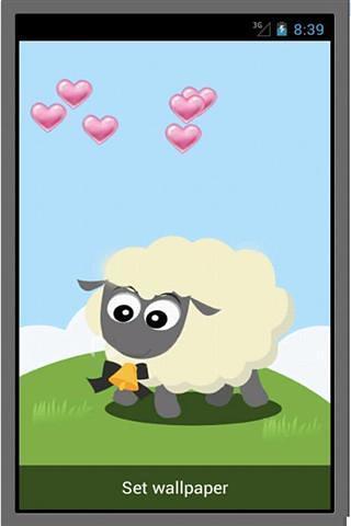 可爱的羊生活壁纸