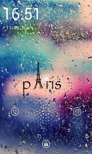 巴黎的雨独奏锁屏