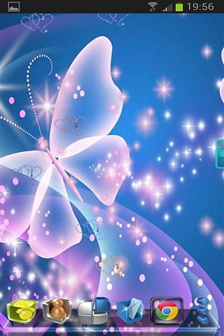 蝴蝶霓虹灯桌面