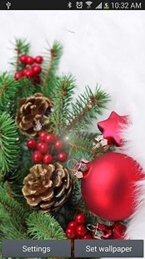 圣诞快乐下雪壁纸