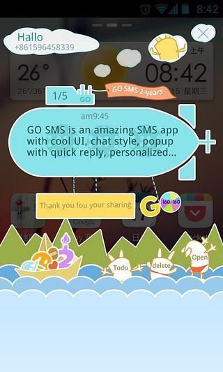 GO短信2周年庆个性即显主题