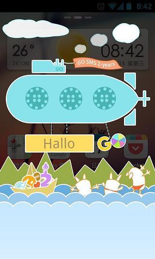 玩免費工具APP|下載GO短信2周年庆个性即显主题 app不用錢|硬是要APP