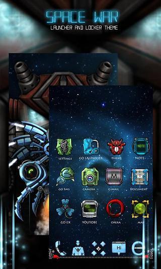 玩免費工具APP|下載GO Locker SpaceWar Theme app不用錢|硬是要APP