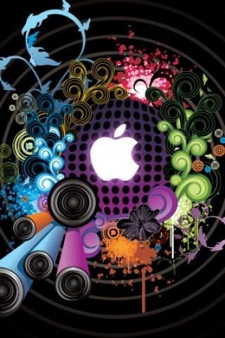 酷炫3D苹果标志壁纸