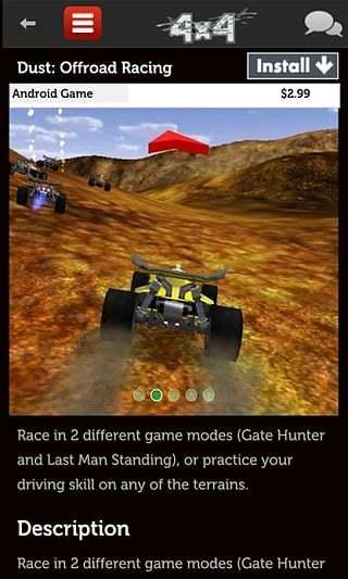 四轮驱动赛车游戏