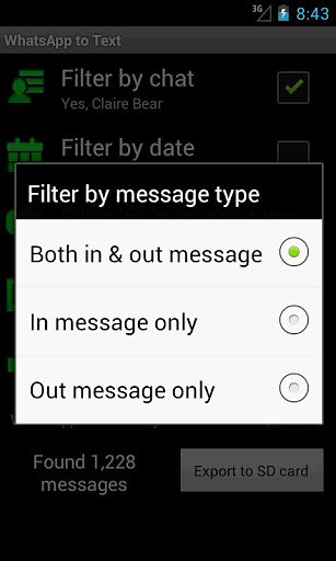 WhatsApp to Text