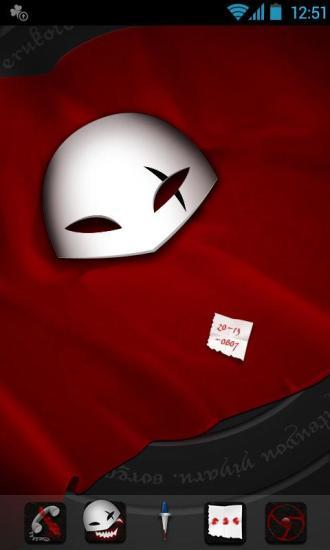 P-Blood Mask GOLauncher EX Theme