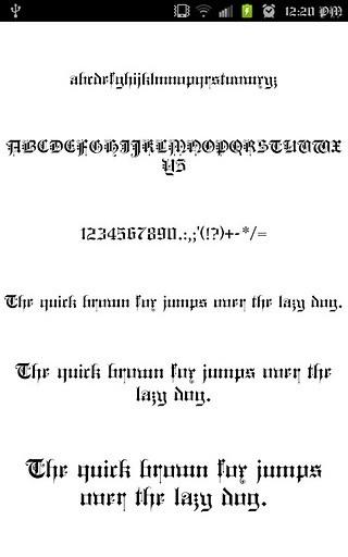 哥特式字体FlipFont免费字体