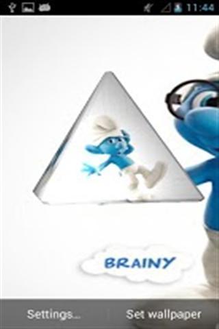 蓝精灵3D动态壁纸