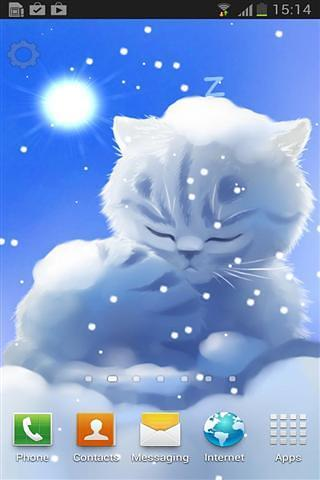 下雪猫咪壁纸
