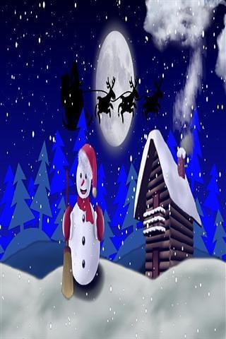 圣诞雪人 - 壁纸