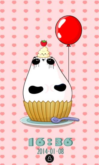 杯子蛋糕锁屏精灵