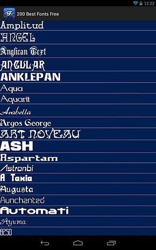 200 Best Fonts Free
