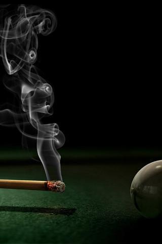 香烟点桌球壁纸